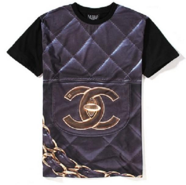 shirt cc shirt chanel inspired coco chanel sweater t-shirt t-shirt