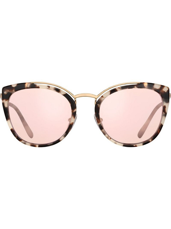 Prada Eyewear cat eye mirror sunglasses in pink
