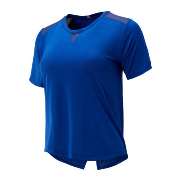 New Balance 93270 Women's Impact Run Mesh Short Sleeve - Blue (WT93270TBH)