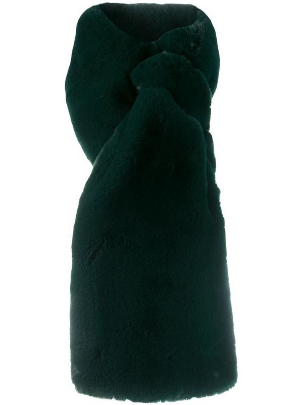 Apparis Luna faux fur scarf in green
