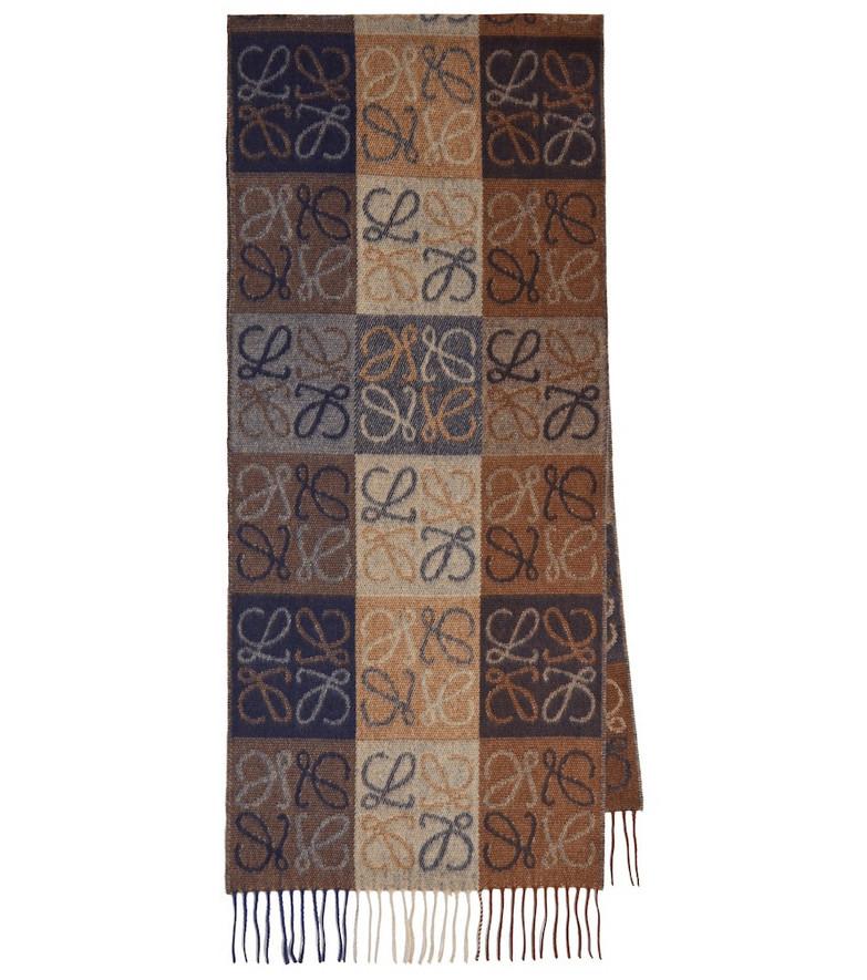 Loewe Anagram intarsia wool-blend scarf