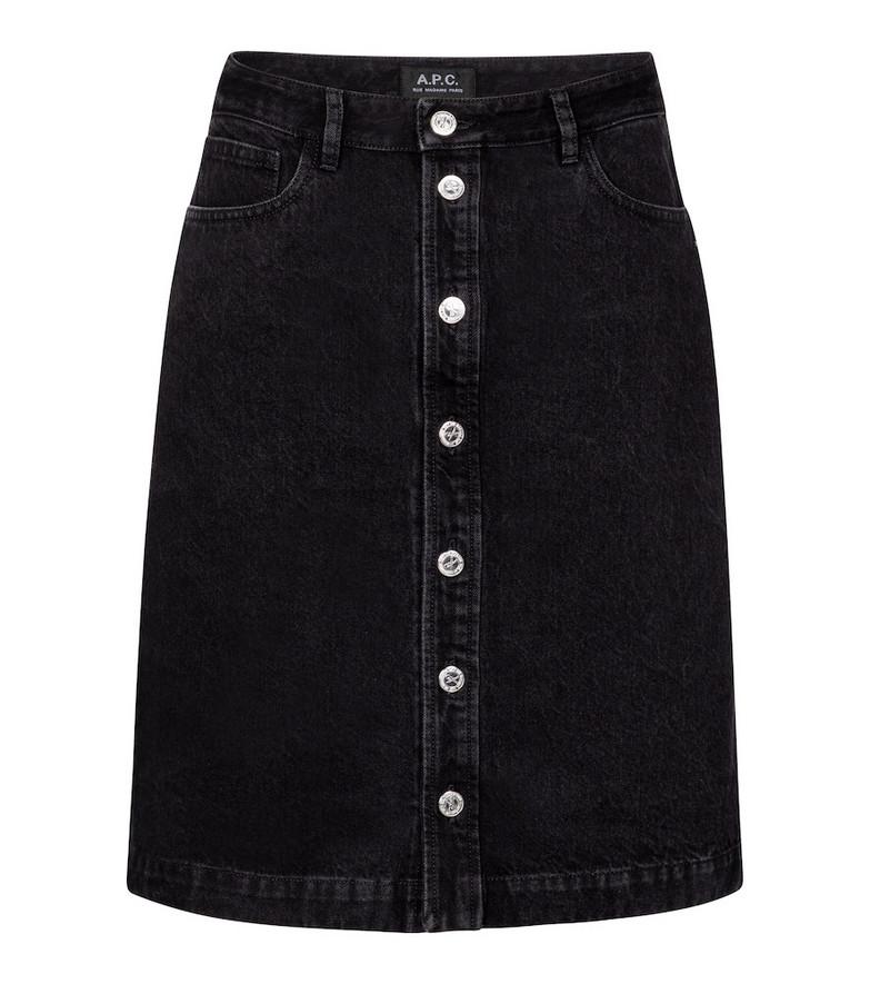 A.P.C. Therese high-rise denim miniskirt in black