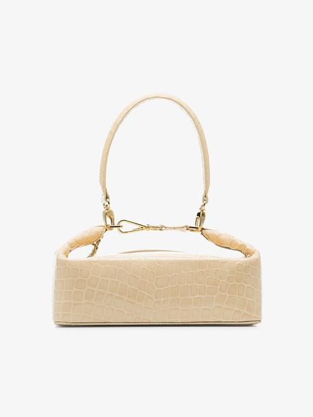 Rejina Pyo neutral Olivia crocodile-embossed leather box bag