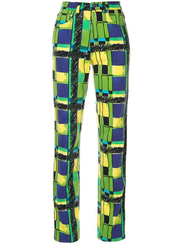 Versace Pre-Owned slim-fit Medusa trousers