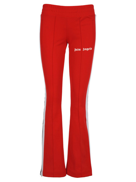 Palm Angels Palm Angels Flared Track Pants in red