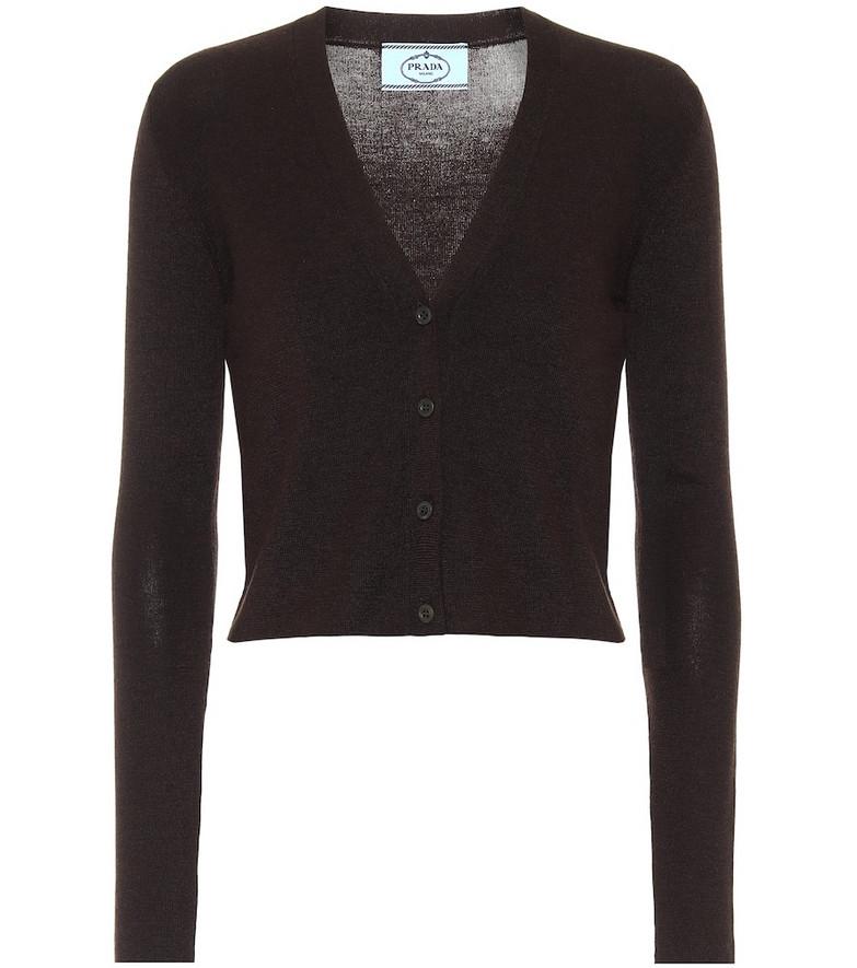 Prada Cashmere and silk cardigan in brown