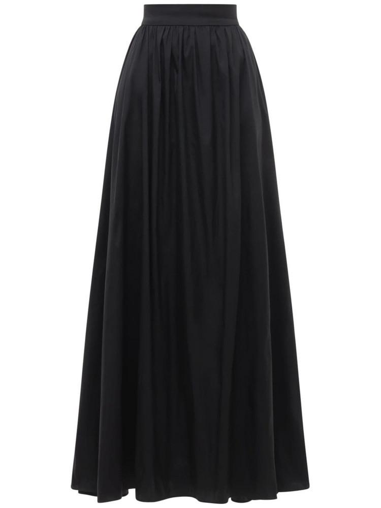 ELIE SAAB Gathered Taffeta Full Maxi Skirt in black