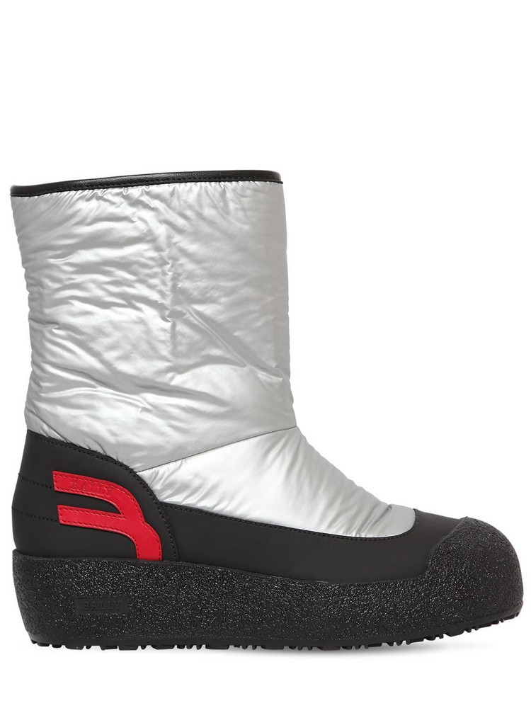 BALLY 40mm Camely Nylon Snow Boots in silver