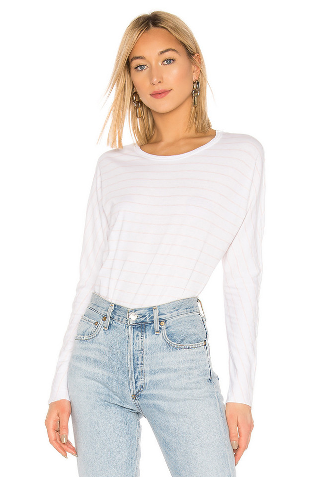 Frank & Eileen Tee Lab Continuous Sleeve Tee in white