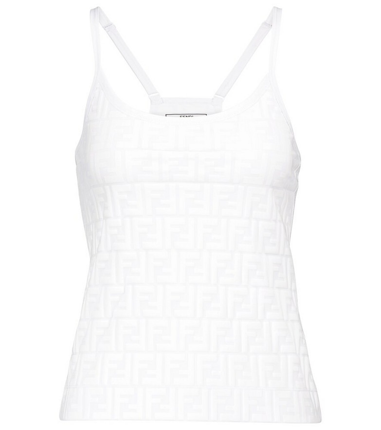 Fendi FF performance tank top in white
