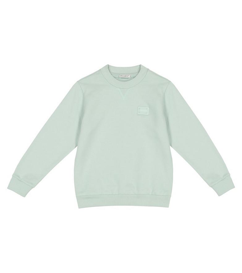 Dolce & Gabbana Kids Cotton sweatshirt in green