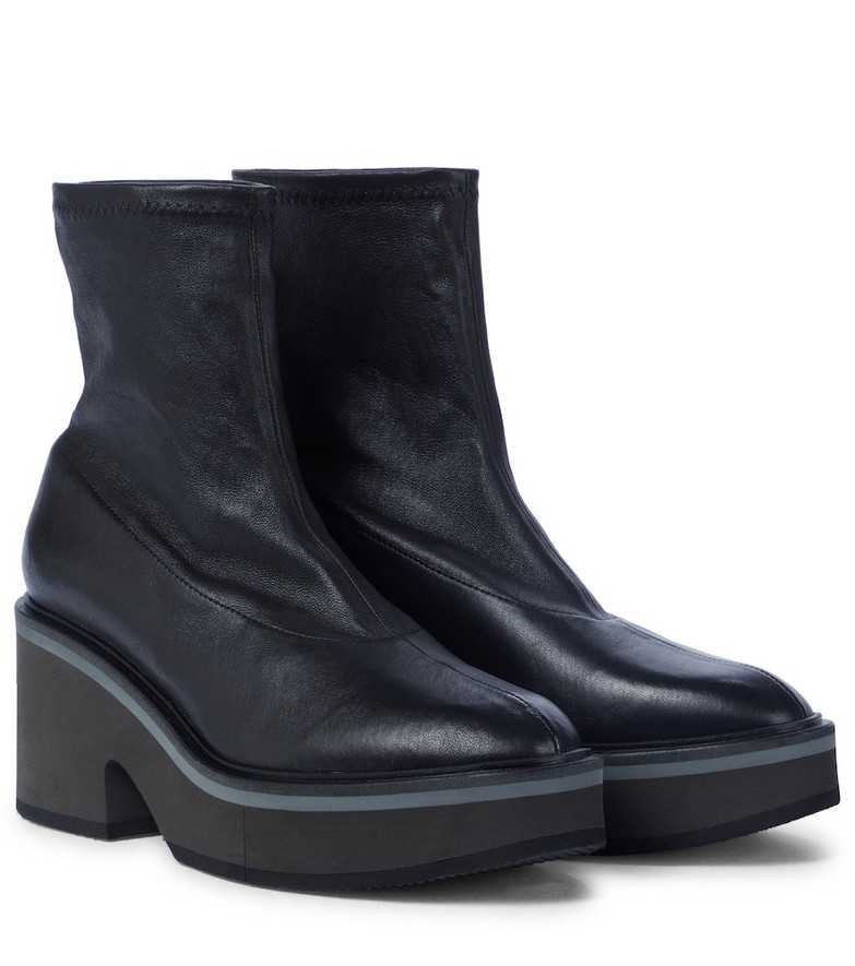Clergerie Albane leather sock boots in black