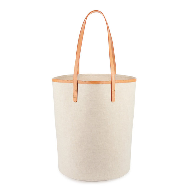 Mansur Gavriel Canvas Circle Bucket Bag - Beige