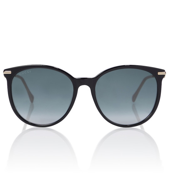 Gucci Round acetate sunglasses in black