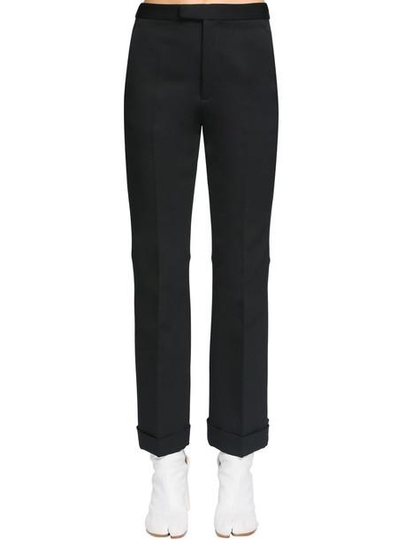 MAISON MARGIELA Back Cut Neoprene Canvas Pants in black