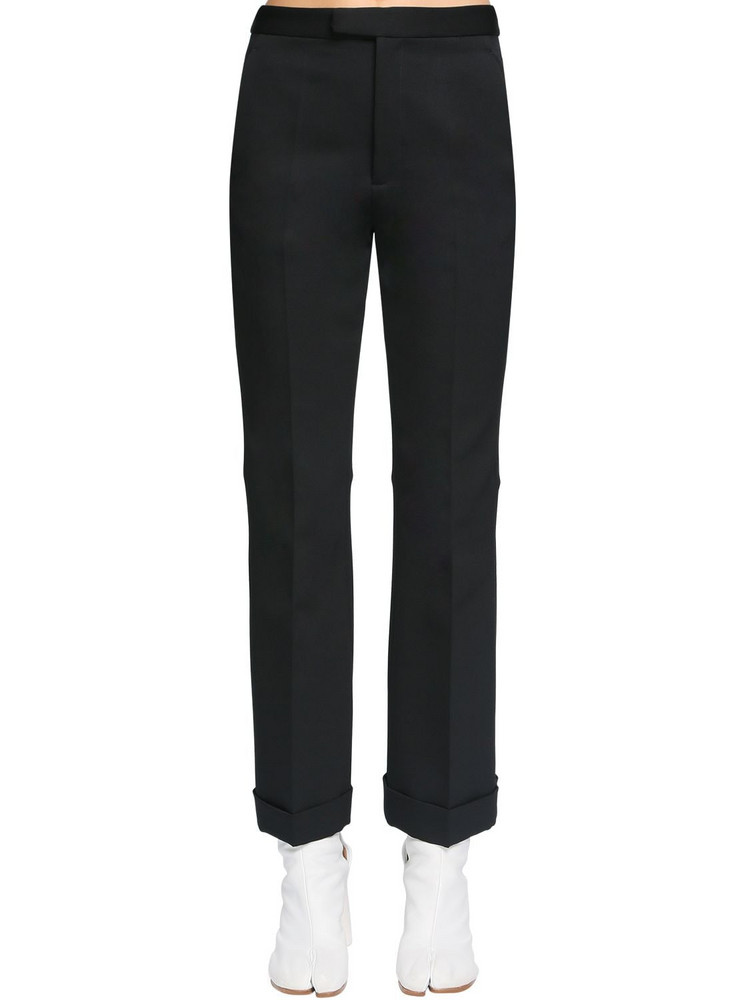 MAISON MARGIELA Back Cut Neoprene Canvas Pants in black