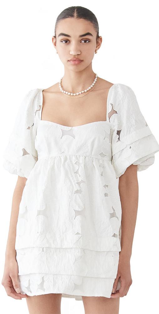 For Love & Lemons Evelyn Babydoll Dress in ivory