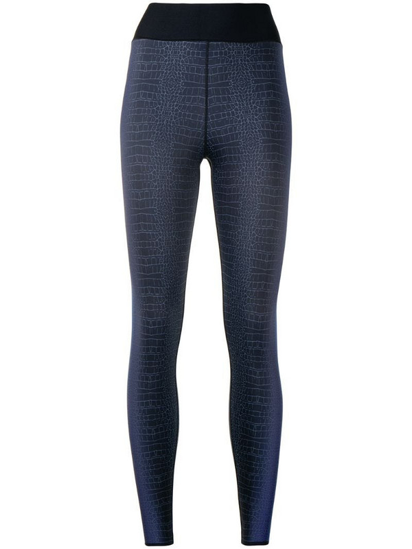 Ultracor croco-print leggings in blue