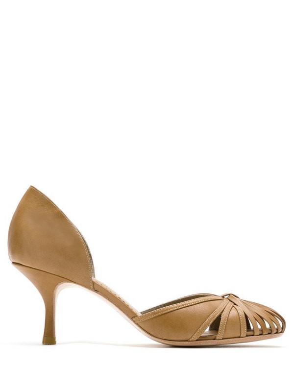 Sarah Chofakian Sarah leather pumps in brown