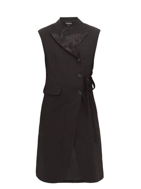 Ann Demeulemeester - Floral Jacquard Sleeveless Blazer - Womens - Black