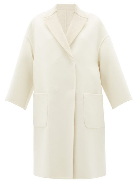 Brunello Cucinelli - Reversible Brushed-cashmere Coat - Womens - Ivory Multi