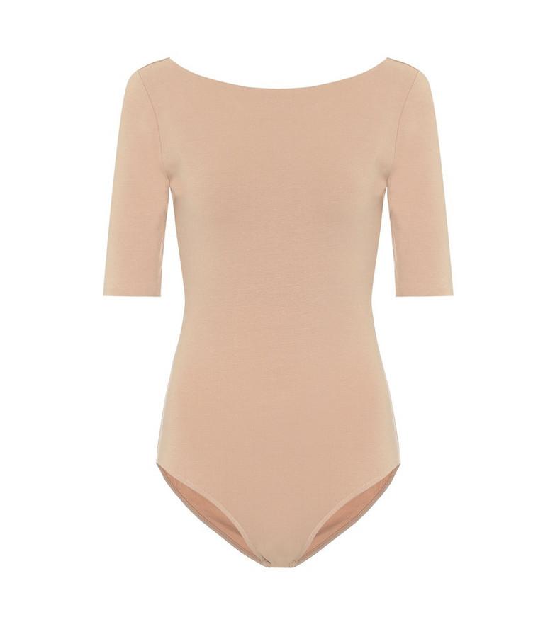 Acne Studios Stretch-cotton bodysuit in beige