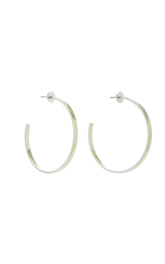 DAVIDOR L'Arc 18K White Gold Hoop Earrings in yellow
