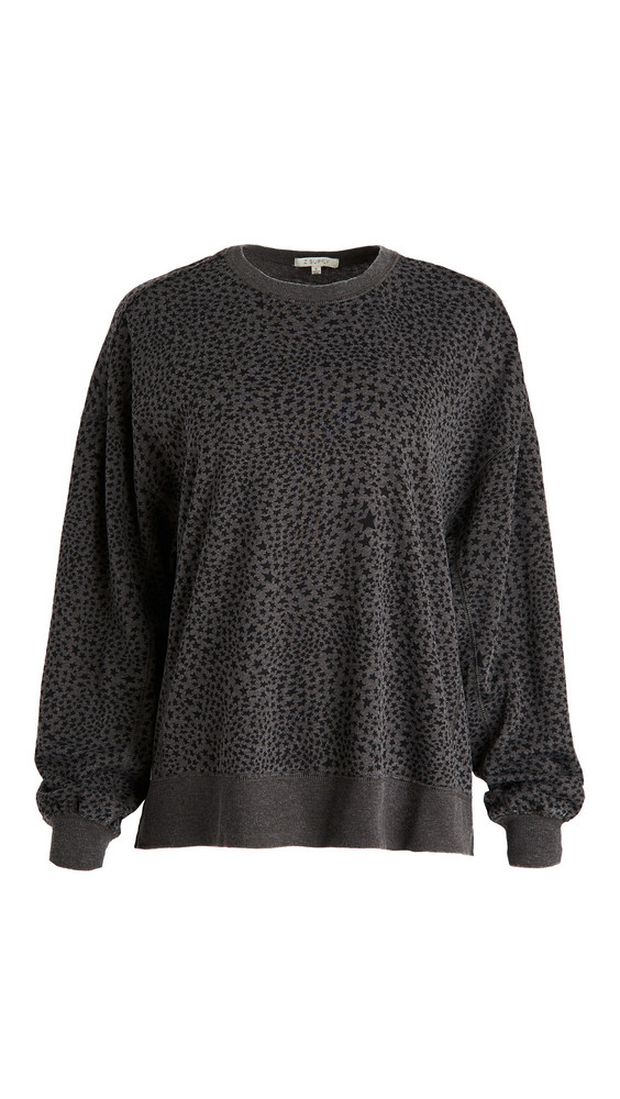 Z Supply Stardust Modern Weekender Sweatshirt in charcoal