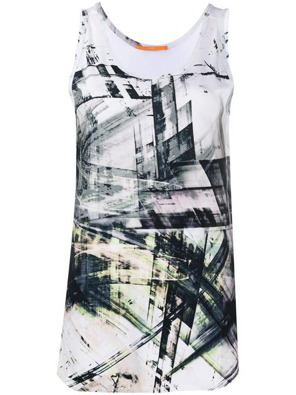 BOSS graphic print vest top in white