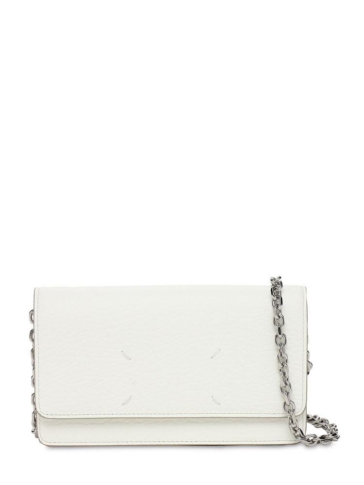 MAISON MARGIELA Leather Chain Shoulder Bag in white