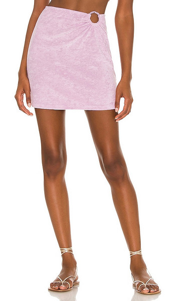 MAJORELLE Devyn Skirt in Lavender in lilac