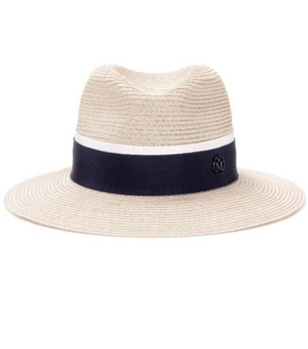 Maison Michel Henrietta straw hat in neutrals
