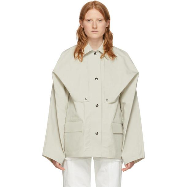Kassl Editions Reversible Beige Cape Jacket