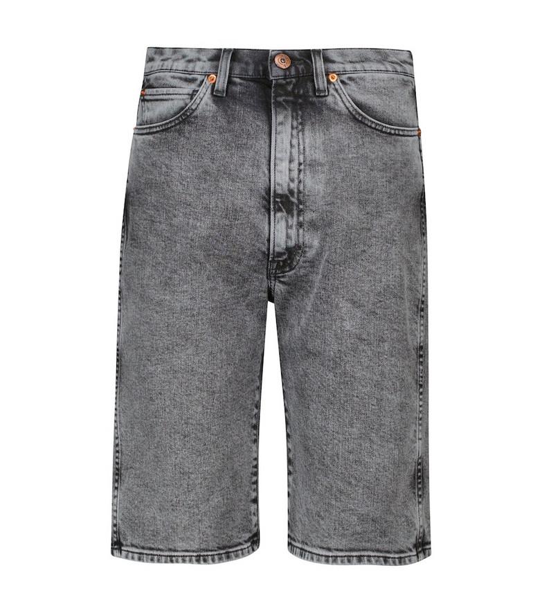 3x1 Claudia denim Bermuda shorts in grey