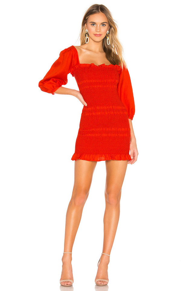 Capulet Siobhan Dress in red