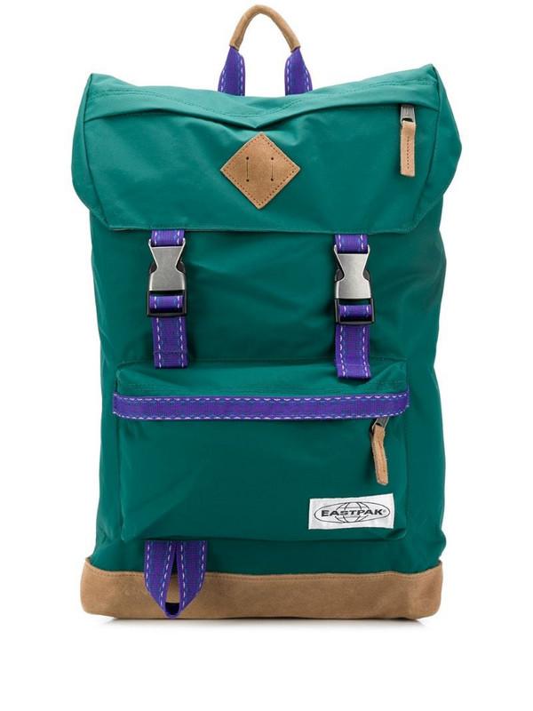 Eastpak buckled logo patch backpack in green
