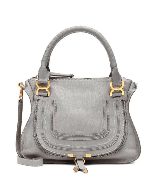 Chloé Marcie Medium leather shoulder bag in grey