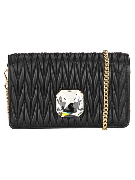 Miu Miu Small Delice Chain Bag + Crystal in black