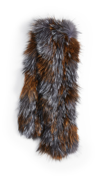 Adrienne Landau Silver Fox Pull Through Scarf