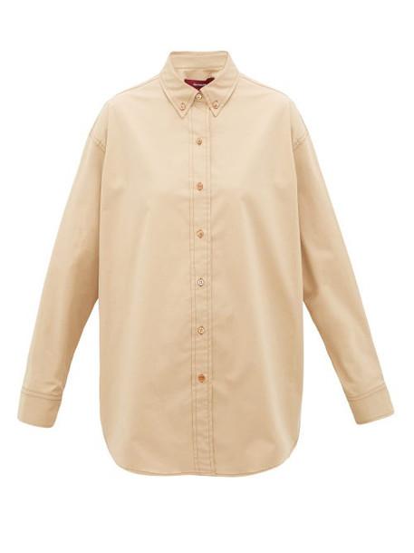 Sies Marjan - Kiki Cotton-blend Shirt - Womens - Beige