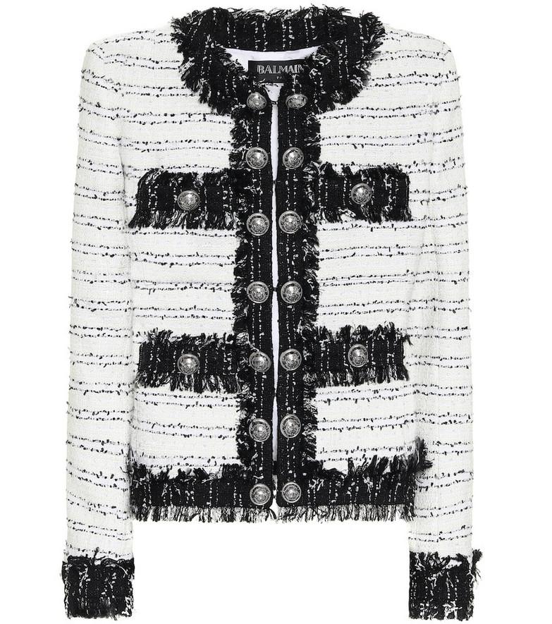 Balmain Tweed jacket in white