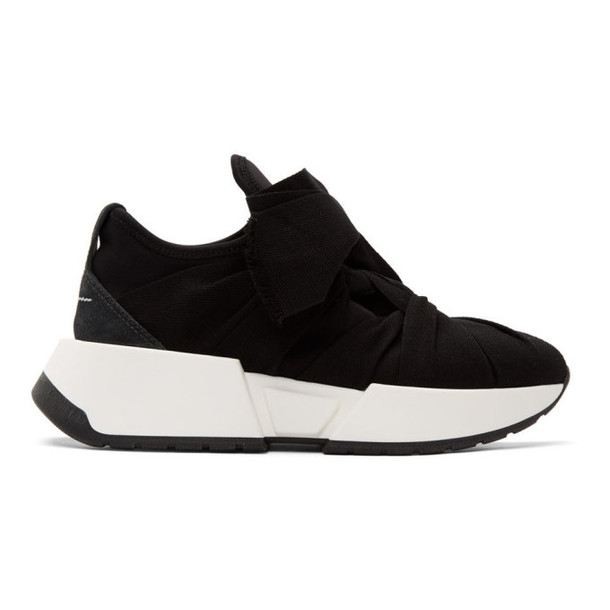 MM6 Maison Margiela SSENSE Exclusive Black Bow Flare Sneakers