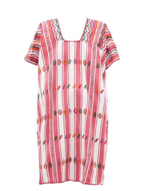 Pippa Holt - No.181 Embroidered Cotton Kaftan - Womens - Pink White
