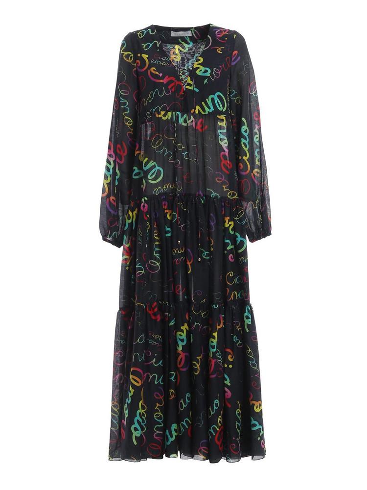 Giada Benincasa Printed Long Dress in black