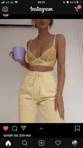 underwear,lace,lace top,lace lingerie,lingerie,bra,bralette,yellow,black,sexy,see through,seethrough underwear,see through lingerie