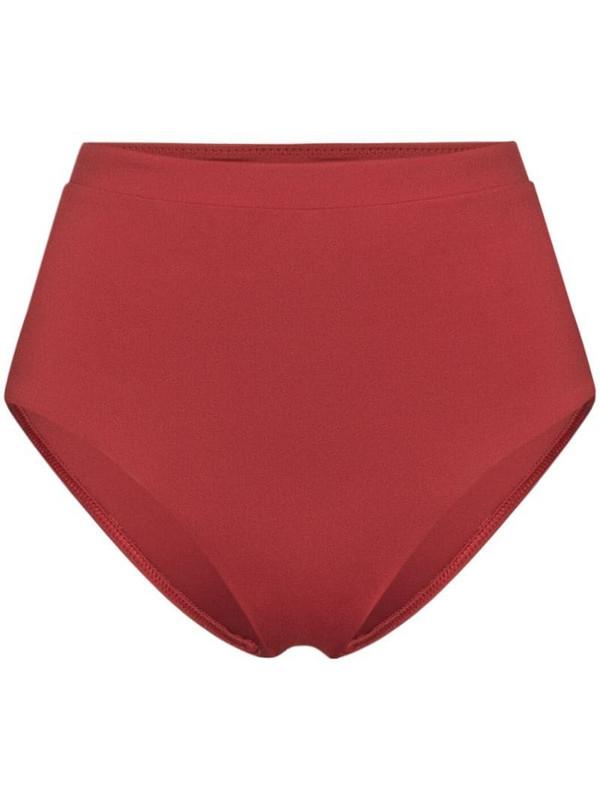 Bondi Born Tatiana high-rise bikini bottoms in red