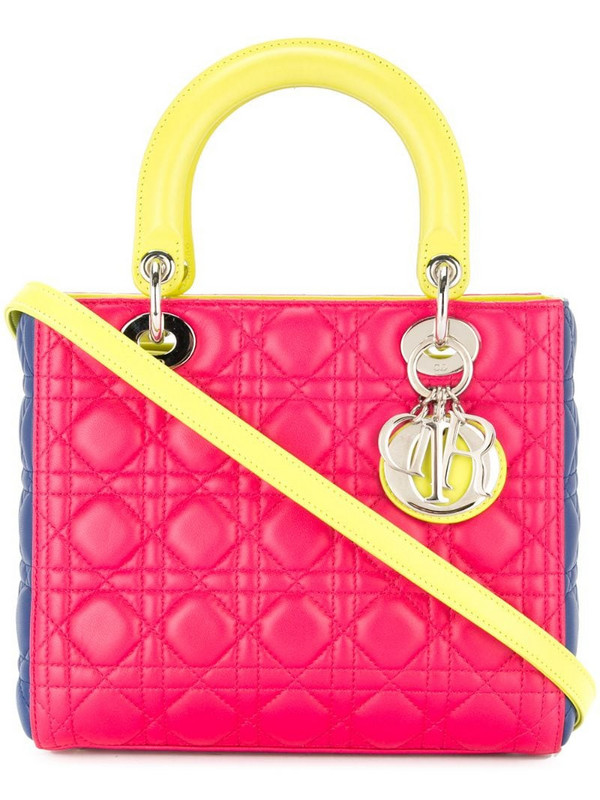 Christian Dior pre-owned Lady Dior 2way hand bag in pink