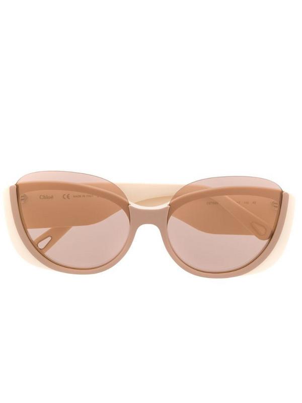 Chloé Eyewear Cayla butterfly-frame sunglasses in neutrals