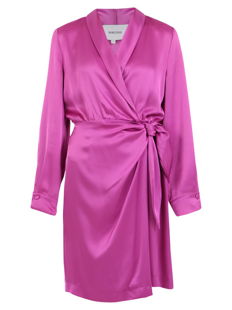Nanushka Satin Dress in pink