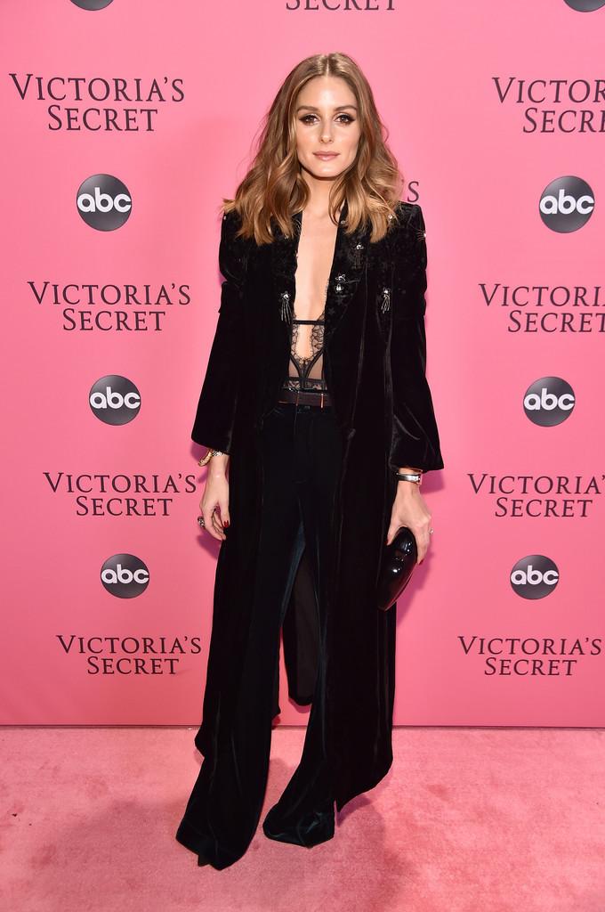 underwear olivia palermo blogger blogger style lace lingerie bodysuit pants blazer victoria's secret